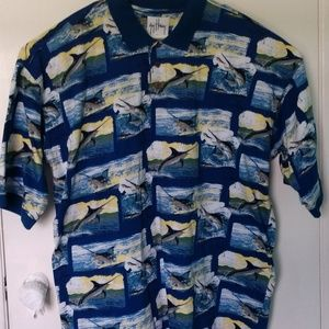 Guy Harvey Shirt Aftco Bluewater Size 2XL Marlins